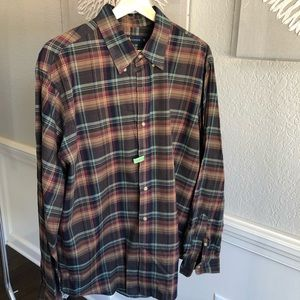 Ralph Lauren plaid button down dress shirt
